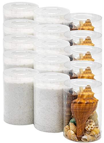 Dekovita 2kg Sabbia Decorativa con Conchiglie Set Granulata Colorata 1-4mm Bianca