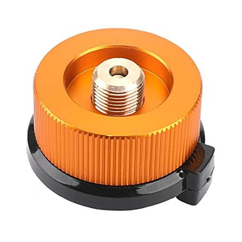 Sanfiyya Adaptador de Gas al Aire Libre Que va de excursión al convertidor del Adaptador Estufa Estufa de butano Conexión para Frasco de Tornillo del Cartucho de Gas 1 PC