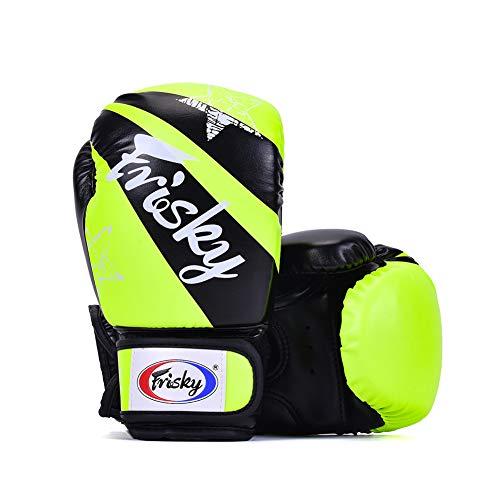 Boxhandschuhe für Kinder 4 Unzen 6 Unzen Training Junior Muay Thai Sparring Kickbox Boxsack Mitt für Kinder Von 3 Bis 12 Jahren (6OZ,Green)