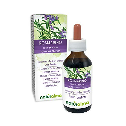 ROSMARIN (Rosmarinus officinalis) Blätter Alkoholfreier Urtinktur NATURALMA | Flüssig-Extrakt Tropfen 100 ml | Nahrungsergänzungsmittel | Veganer