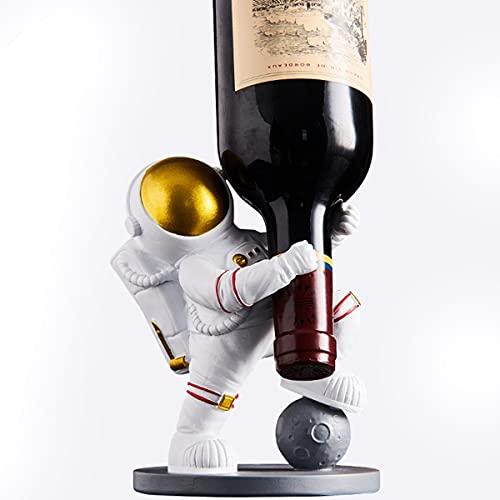 NZQLJT Estante para Vino, Pequeño, De Resina, De Astronauta, Estante para Vino, Estante De Exhibición De Vino De Mesa para Despensa De Gabinetes