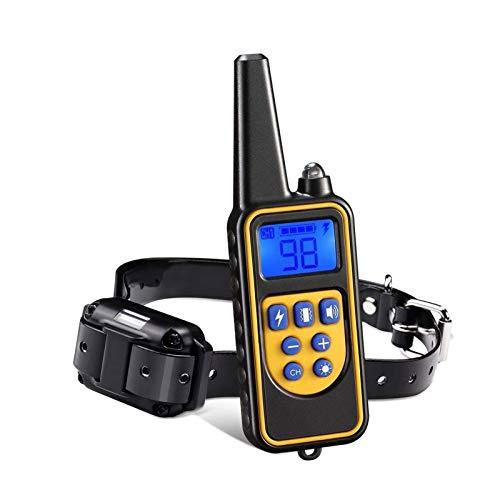 Adesign Telecomando for Abiti da addestramento for Cani, Colletto Elettrico Pet Impermeabile Ricaricabile con Display LCD Shock Vibrazione Suono