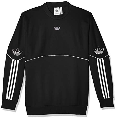 adidas Herren Sweatshirt Outline CRW FT, Black, XS, FM3856