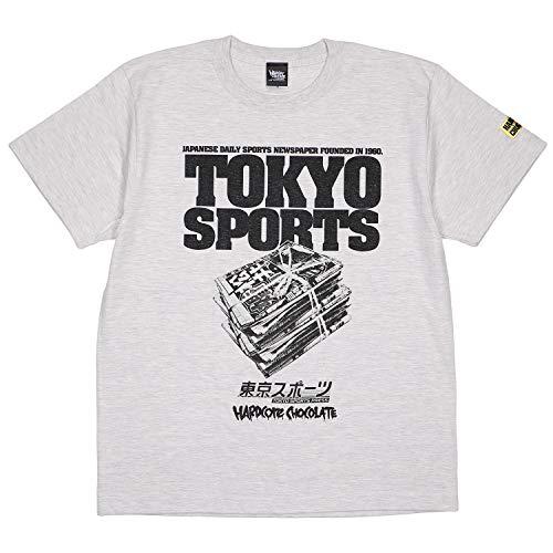 (ハードコアチョコレート) HARDCORE CHOCOLATE 東京スポーツ×HARDCC (飛ばしオートミールカラー)(SS:TEE)(T-1534EM-OM) Tシャツ 半袖 カットソー コアチョコ 国内正規品 XL オートミール