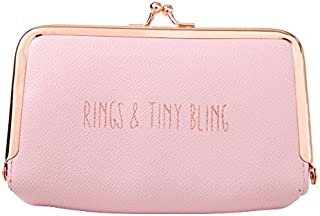 Miamica Blush Pink Jewelry Case W/kiss Lock gems & Jewels-Mermaid Collection, One Size