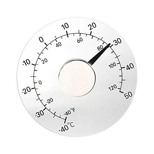 ONEVER Thermomètre analogique centigrades Transparent Surveillance de la température Compteur Pâte de Collage du Verre Verre Extérieur Ménage