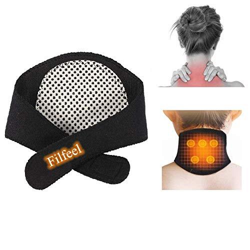 Neck Brace, Cuello de autocalentamiento Cuello de cuello Cinturón natural Terapia física para el cuello Rigido Alivio del dolor, Dolor de cabeza, Migrañas de Filfeel