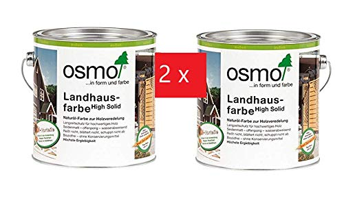 Osmo-Set - 2 x 2,5 l Landhausfarbe anthrazit 2716 + Ziegler Zimmermannsbleistift