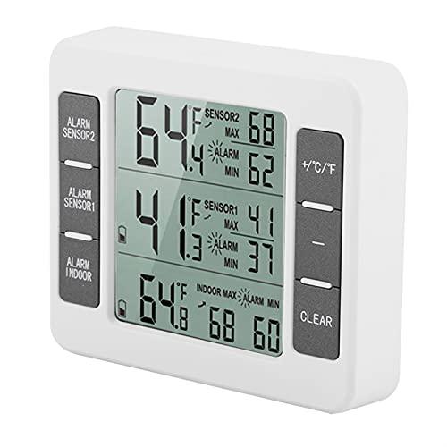 Qinyayoa Medidor de Temperatura, Monitor de Temperatura inalámbrico con Sensor para congelador
