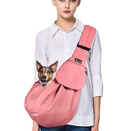 perros para perros LileTink Bolsa de transporte para mascotas perros peque/ños 7 kg para perros correa ajustable gatos bandoleras gatos tama/ño M 2,5 bandoleras paseos gris bandoleras