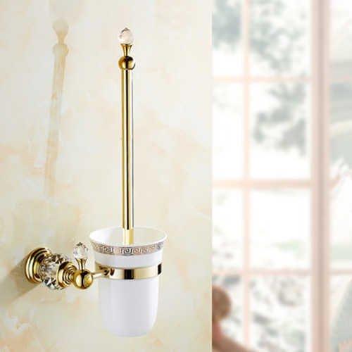 Best Prices! KAKDA-STORE Bathtub Faucets,Bibcocks,Toilet Brush, Golden European Style Brass Crystal ...