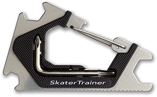 Pocket Skate Tool |Clip It On & Always Have It | Metal Design | Adjust Everything on your Skateboard, Longboard, or Penny Cruiser Board with this Skateboard Tool | Great Gift for any Skater (Black)