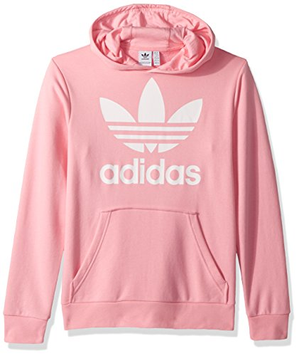 adidas Originals Boys Trefoil Hoodie, Pink/White, S