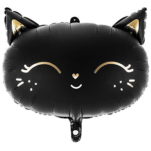 DekoHaus Folienballon Katze 48x36cm Partydekorationen