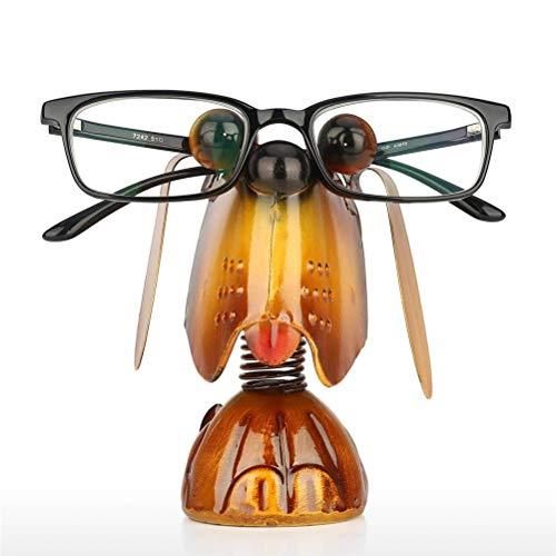 Yousiju Cachorro Perro Animal Soporte anteojos Soporte Escultura de Hierro artesanía artesanía Gafas de Sol Pantalla decoración del hogar para Novia