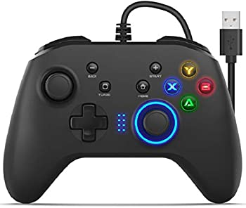 Hirifull Wired PC Gamepad Gaming Controller with Dual and Joystick