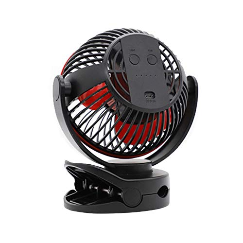JXJJD Portátil Mini Ventilador USB Silencioso, Ajustable Ventilador Pinza Pequeño para Mesa, Cochecito de Bebé, Cama, Camping, Coche, Oficina, Casa y Aire Libre