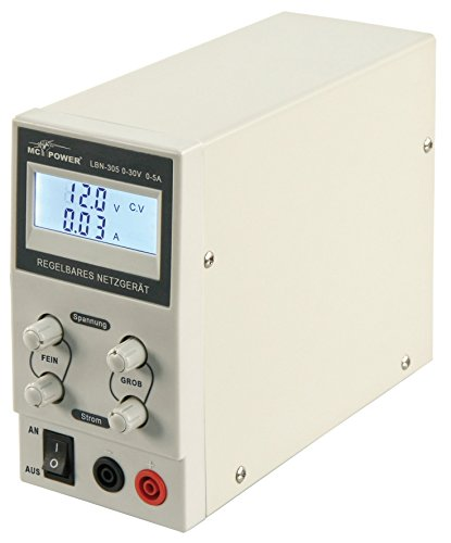MC POWER - 150W regelbares Labornetzgerät Netzgerät  LBN-305   0-30V, 0-5A   ideal für Bastler, Elektroniker und Techniker
