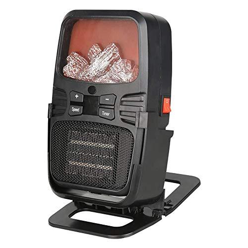 DGYAXIN Mini Calentador de Estufa eléctrico de Invierno portátil, Chimenea LED de tamaño pequeño, protección contra sobrecalentamiento, Calentamiento rápido, para el hogar y la Oficina