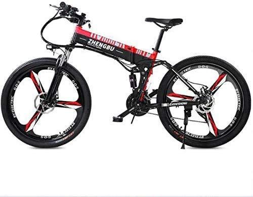 Herren fahrrad Rennräder 26 Zoll Faltbares Elektrisches Mountainbike Für Erwachsene Herren | 48V 10AH Lithium-Ionen-Akku 27-Gang Hybrid-Bikes Mit Variabler Geschwindigkeitsunterstützung Cross- & Trekk