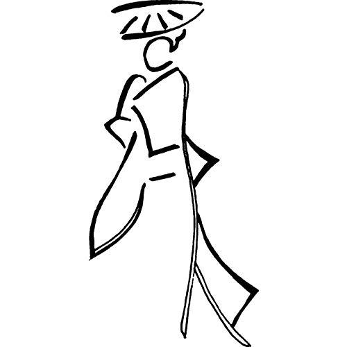Azeeda A7 'Abstrakte Orientalische Frau' Stempel (Unmontiert) (RS00001538)