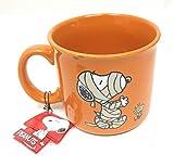 Peanuts Snoopy Mug Halloween Large 21 oz Orange, Snoopy and Woodstock Mummy
