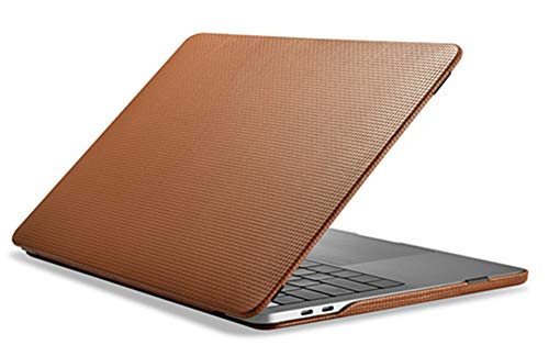 ICARER Leather Case for MacBook Pro 13 (2020 2019 2018 2017 2016 Release), Handmade Premium Vintage Genuine Leather Laptop Case Detachable Folio Cover for MacBook Pro 13'' (Brown)