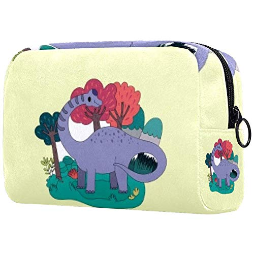 Trousse de toilette portable pour femme, sac à main, cosmétique, voyage longue queue dinosaure