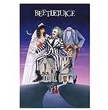 BEETLEJUICE - PELÍCULA DE UNA HOJA KEATON BURTON CARTEL Pintura de pared decorativa Carteles e impresiones Obra de arte única-50x70cm Sin marco