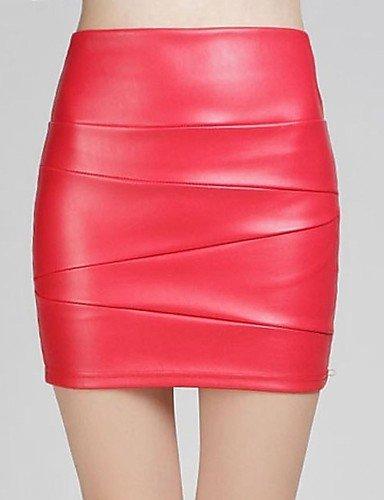 Unbekannt ZLL sagetech @ Frauen hohe Taille ausgestattet kurzen Lederröcke (weitere Farben), s