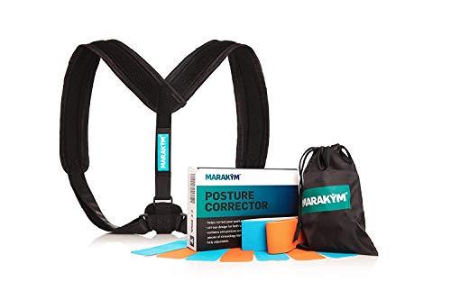 Marakym Adjustable Clavicle Brace Posture Corrector for Women & Men -...