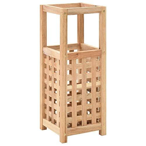 Cikonielf - Portaombrelli in legno massello di noce compensato, 18 x 18 x 50 cm (lunghezza x larghezza x altezza).