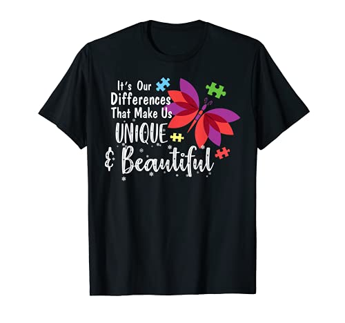 Las diferencias nos hacen únicos - Mariposa de la conciencia Camiseta