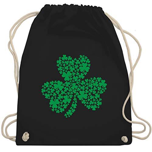 St. Patricks Day - Kleeblatt Motiv für St. Patricks Day - Unisize - Schwarz - tasche irland - WM110 - Turnbeutel und Stoffbeutel aus Baumwolle