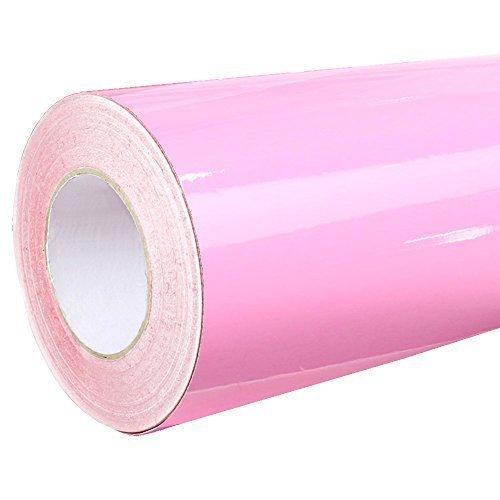 4,75€/m² Rapid Teck® Glanz Folie - 045 Hell Rosa - Klebefolie - 5m x 63cm - Plotterfolie- Folie selbstklebend - auch als Moebelfolie - Klebefolie