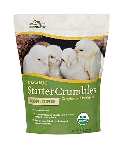 Manna Pro Organic Starter Crumble Complete Feed | Made with 19% Protein, USDA & Non-GMO | 5 Pounds