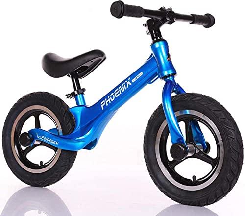 N&I Bicicleta de equilibrio de magnesio de 12 pulgadas, sin pedal, para bicicleta, ajustable, para niños de 2 a 6 años