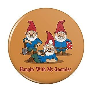 Hanging Gnomies Gnomes Pinback Button