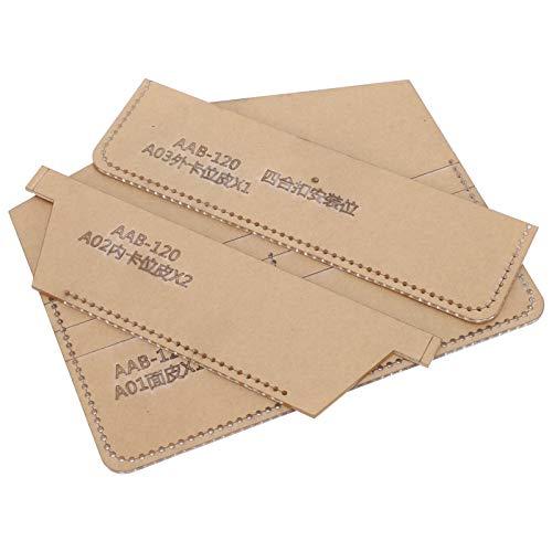 Brieftaschen-DIY-Vorlage, bequeme Brieftaschenvorlage mit hoher Härte, Anti-Aging-Brieftasche für professionelle Freunde im Allgemeinen