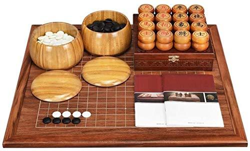 WJHCDDA Ajedrez magnetico IR Chino ajedrez Conjunto Adulto Principiante de Madera sólida Tablero de ajedrez de Doble Cara (Color : B)