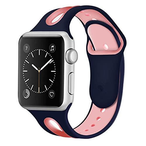 Correa deportiva para Apple Watch band 44mm 40mm iwatch band 42 / 38mm pulsera de silicona correa de relojpara apple watch series 6 se 5 4 3
