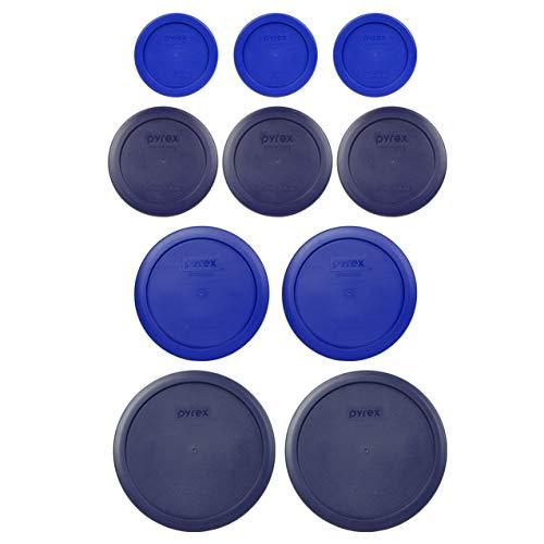 Pyrex (2) 7402-PC 6/7 Cup Blue (2) 7201-PC 4 Cup Cadet Blue (3) 7200-PC 2 Cup Blue (3) 7202-PC 1 Cup Cadet Blue Ersatz Food Storage Deckel
