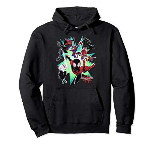 Marvel Spider-Man Spiderverse Action Group Graphic Hoodie