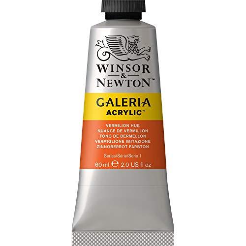 Winsor & Newton 2120682 Galeria Acrylic Paint, 60-ml Tube, Vermilion Hue