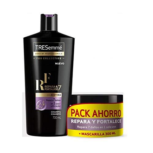 TRESEMMÉ Pack répare et renforce 7 en 1 Shampooing 700 ml + Masque 300 ml