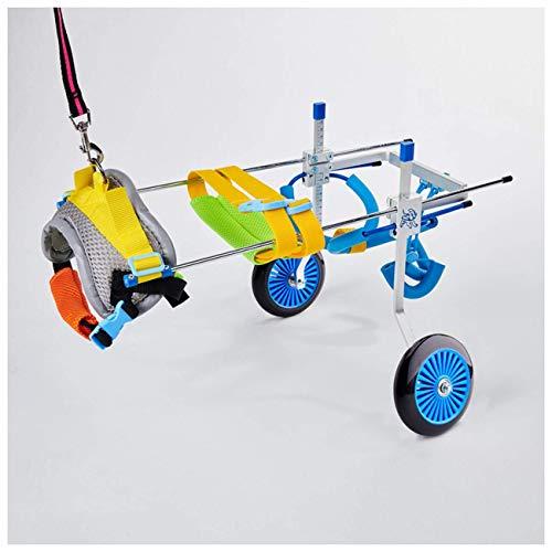 Patas traseras para sillas de ruedas para perros, medianas / grandes / pequeñas, silla de ruedas ajustable para mascotas, carrito para mascotas, para perros mayores, gatos, conejos, rehabilitación par