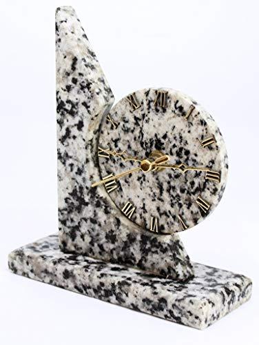 Agata Mineral Import Uhr aus grauem Granit - Herkunft: Brasilien