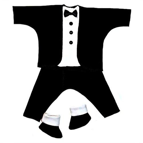 Jacqui's Baby Boys' Black and White Baby Tuxedo Suit