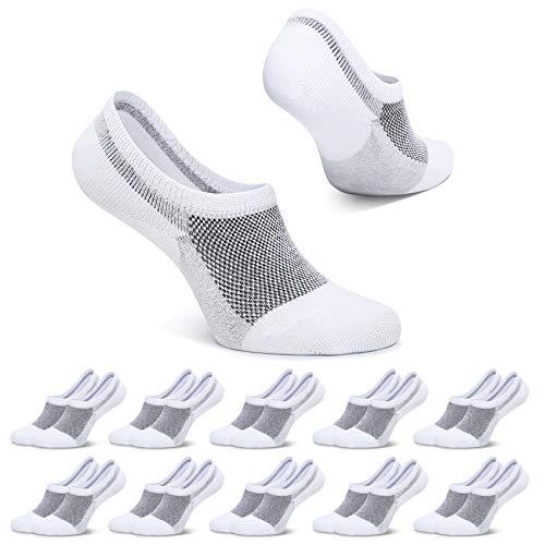 FALARY Füßlinge Herren 39-42 Weiß Kurze Socken 10 Paar Füsslinge Sneaker Socken Damen Unsichtbar...