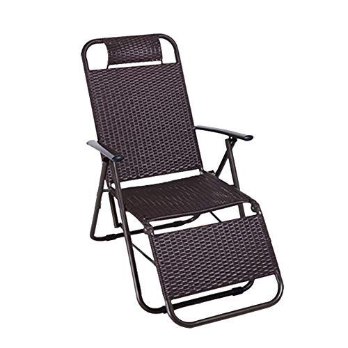 YLCJ Summer verse versterkte rieten stoel Opvouwbare ligstoel Stoel voor lunch pauze bureaustoel Balkon Nap stoel Luie stoel Opvouwbaar